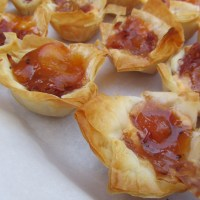 Labor Day Party Favorites: Fresh Peach and Nectarine Pie & Goat Cheese and Marmalade Phyllo Bites