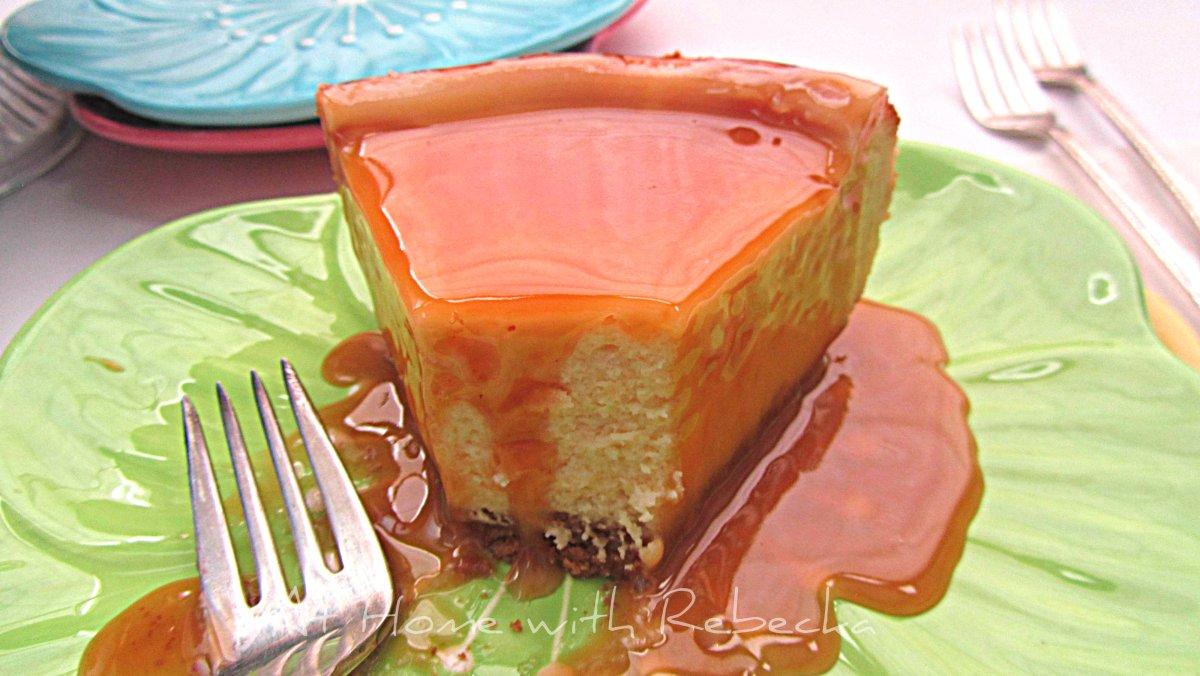 New York Cheesecake with Caramel Sauce