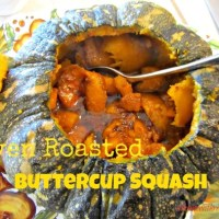 Oven Roasted Buttercup Squash