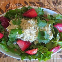 Fresh Strawberry Vinaigrette, Mixed Greens and Tuna Salad