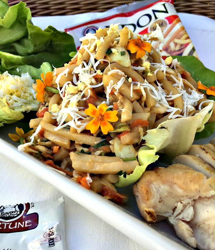 JSL Foods Blogger Recipe Challenge - UDON Lettuce Cups with Creamy Peanut Dressing
