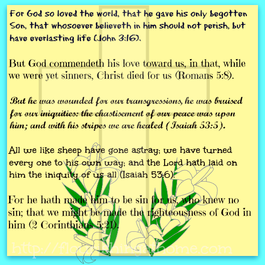 "Snippets From God's Word Series: ""Easter Part 1 – Meditational Verses Printable"""