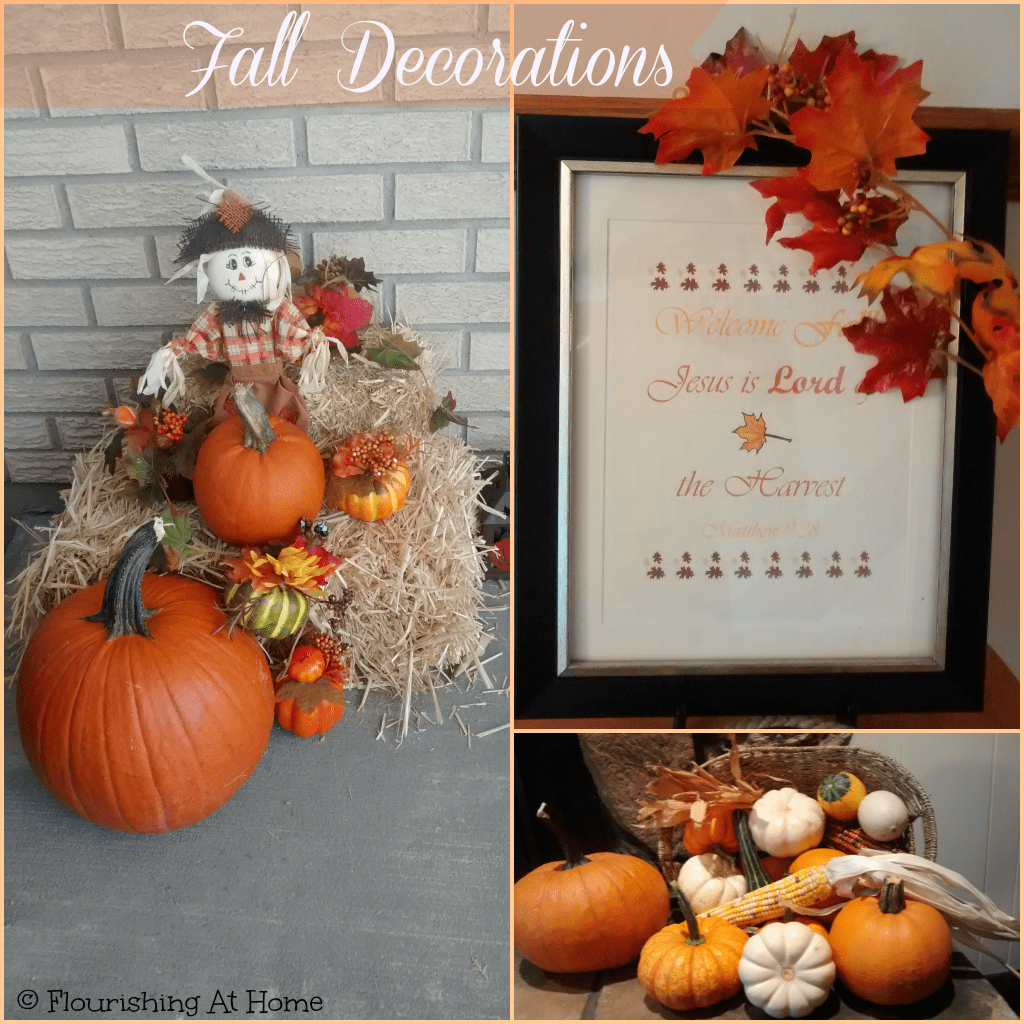 Fall Mantle and Other Fall Decor Around Our Home
