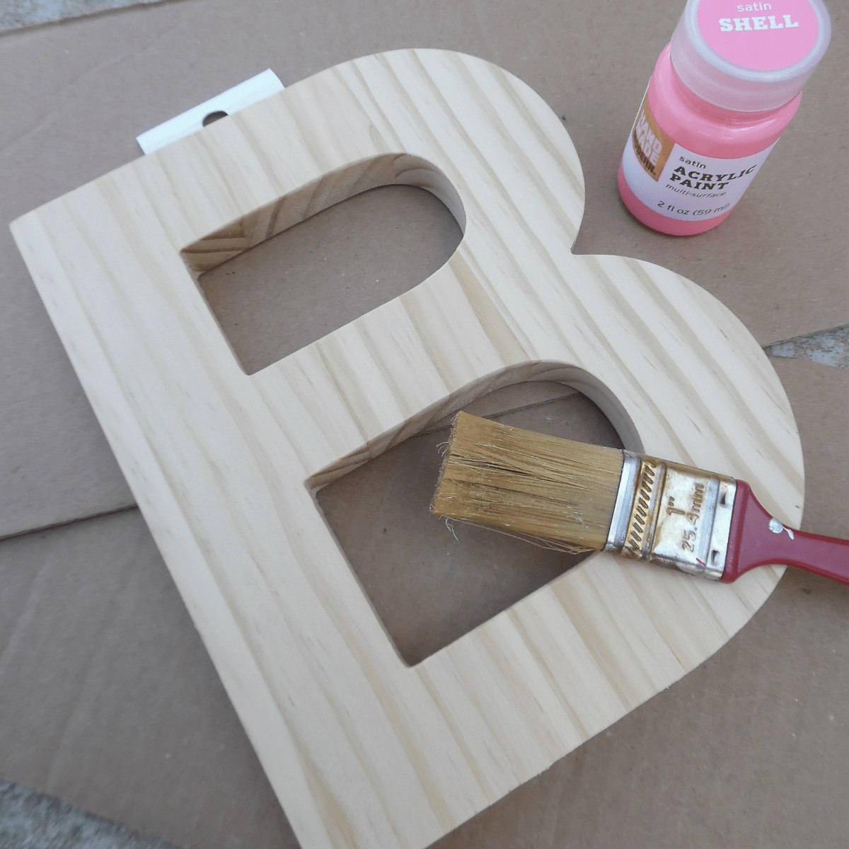 diy framed letter canvas art for kids room at home with zan
