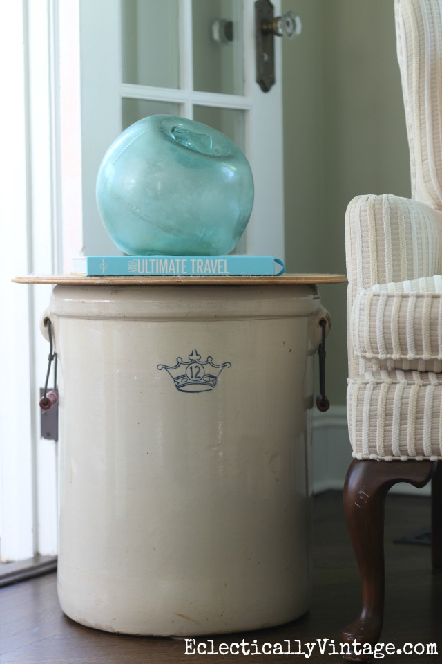 vintage-crock-table-glass-buoy