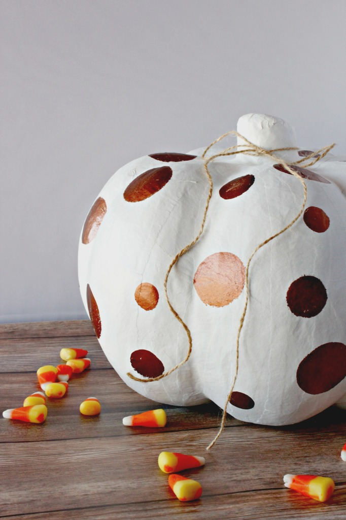 hand-painted-white-and-copper-pumpkins