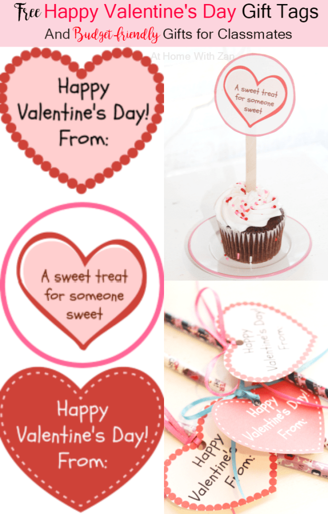Free Valentine's Day Gift Cards - At Home With Zan