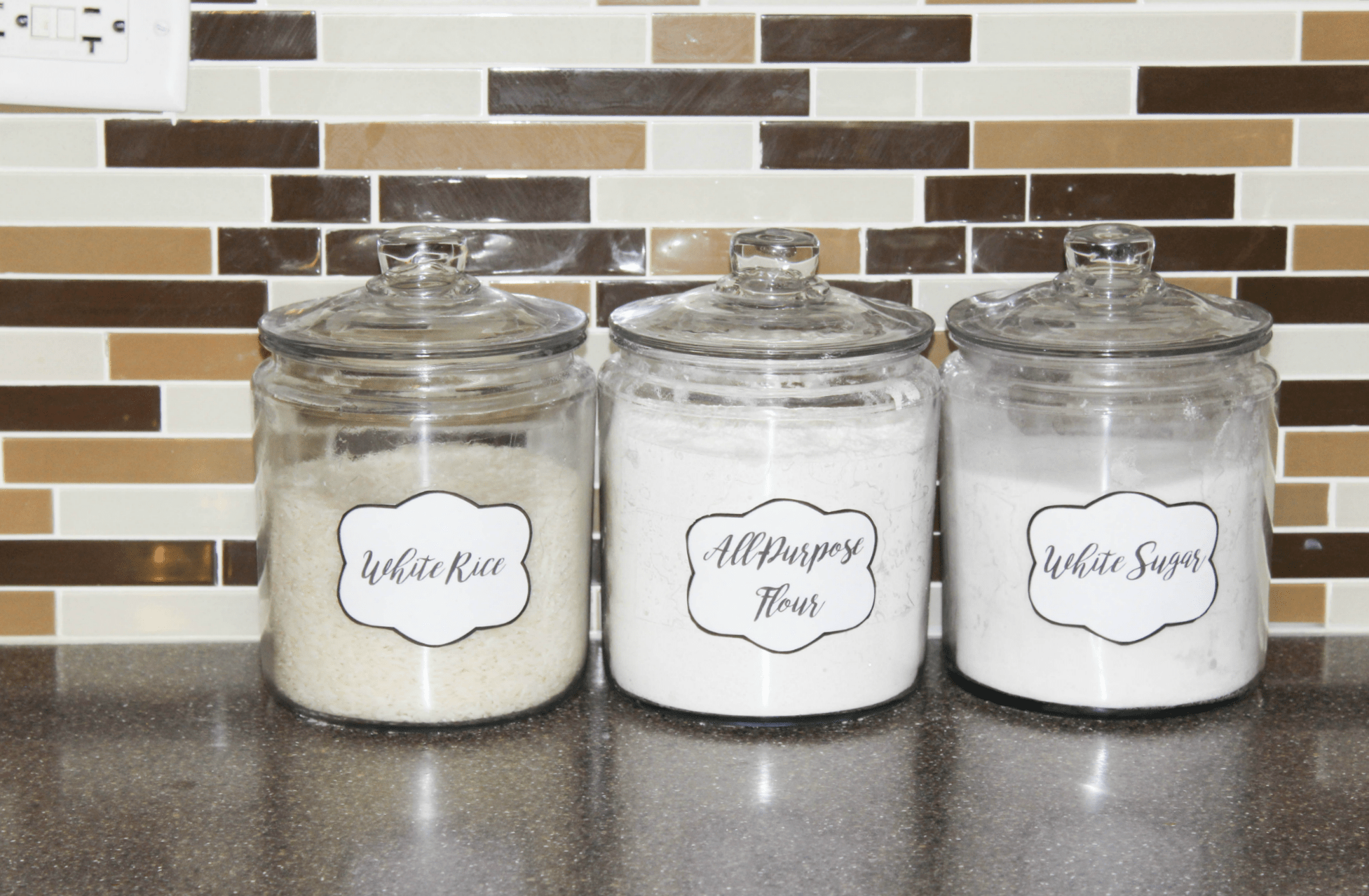 food jar labels organize your pantry food cupboards at home