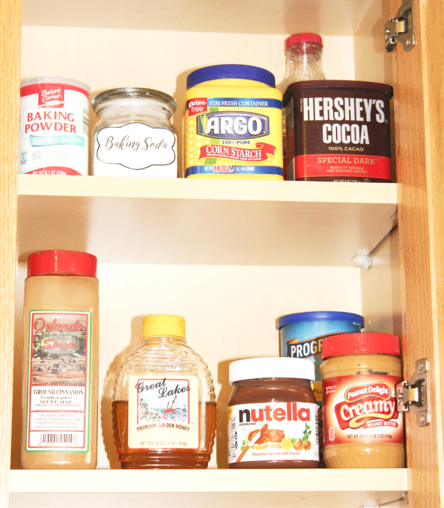 pantry organizing and cupboards