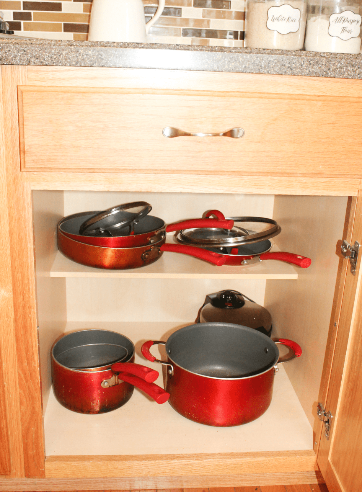 Kitchen Drawer Organization   Pots