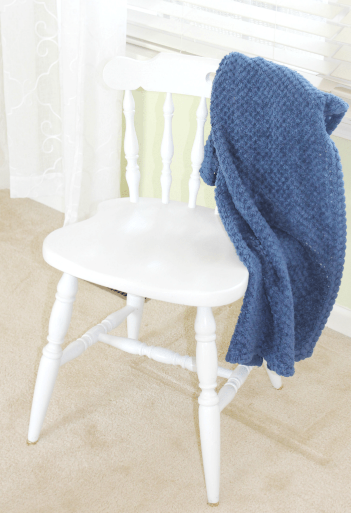 Chair Makeover - Painted White Chair