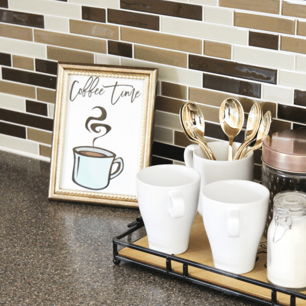 -How to Create a Small Coffee Station at Home - Coffee Printable - At Home With Zan