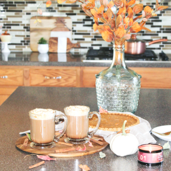 Fall Kitchen - And - Caramel Mocha Recipe - With Dunkin' Donuts Coffee & Land O Lakes Half and Half - At Home With Zan -.