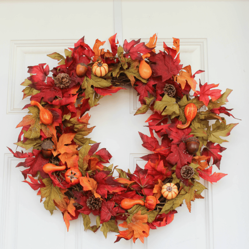 Fall Wreath - Autumn Wreath - At Home With Zan