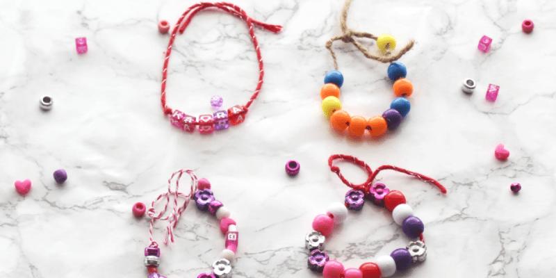 DIY Bead Bracelets - For Valentines - Friendship Bracelets - At Home With Zan-