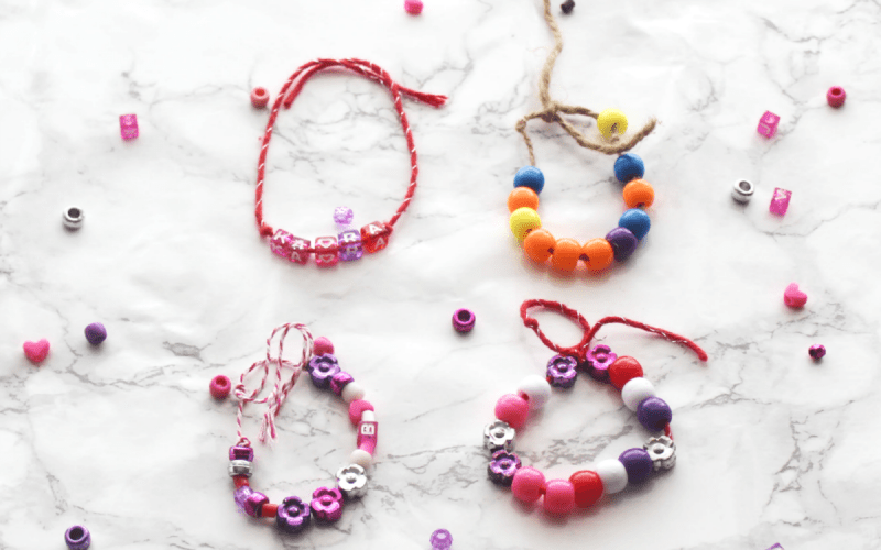 Beaded Bracelets and Necklaces for Kids