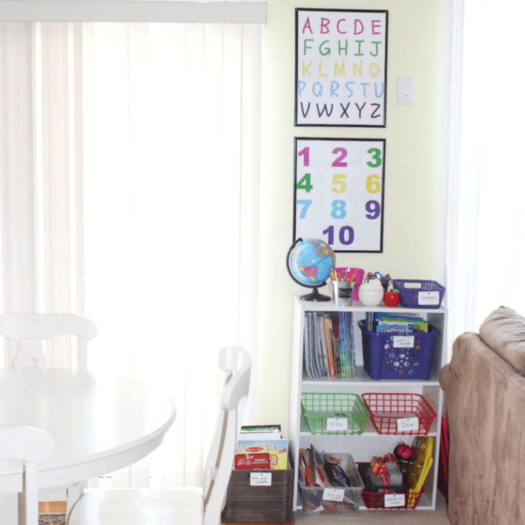 How to Organize a Small Corner for Homeschooling