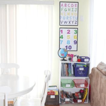 Homeschool - With Homeschool Organization - At Home With Zan