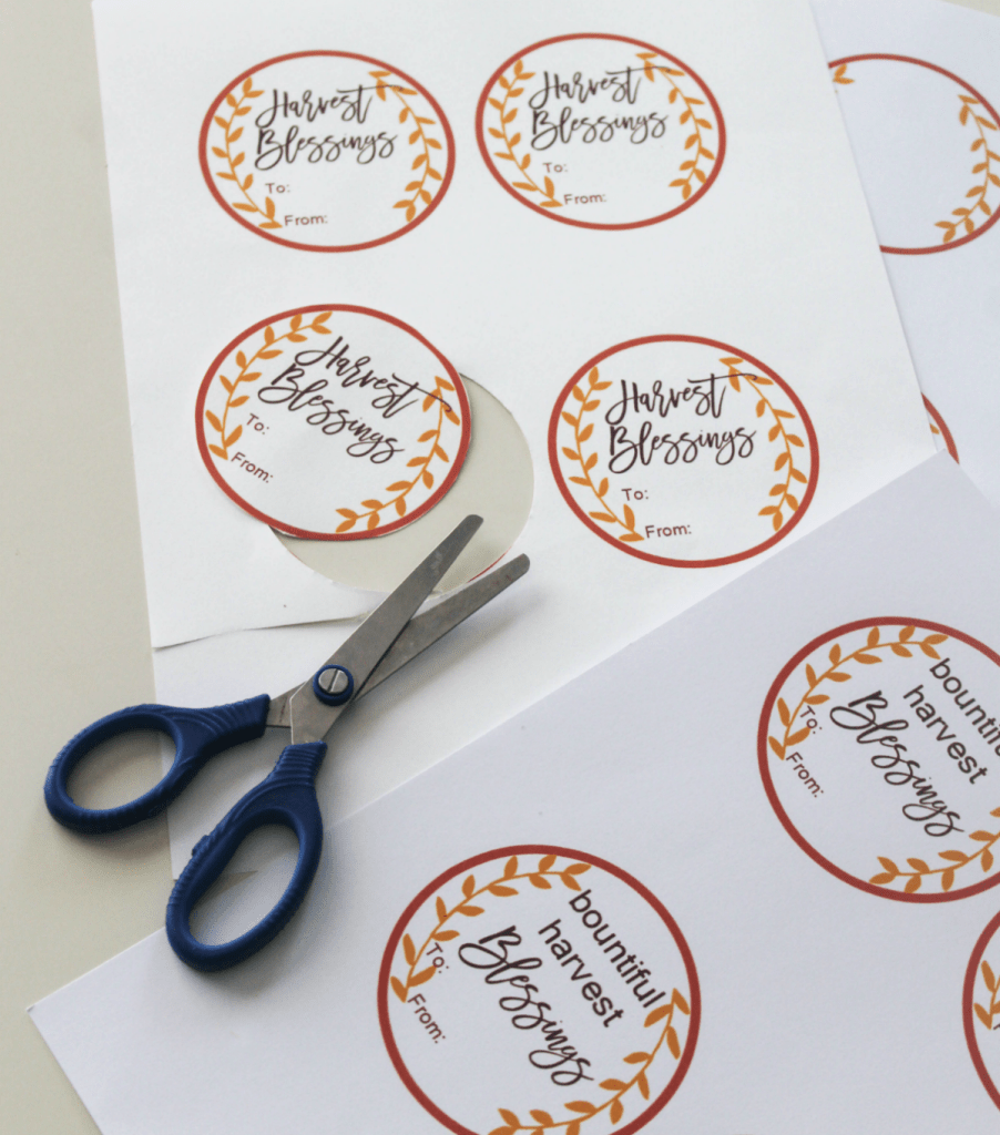 Free Fall Gift Tags - Harvest Blessings Tags - Bountiful Harvest Blessings Gift Tags - Blank Tags - At Home With Zan