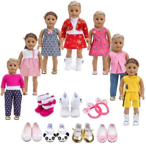 Doll Clothes for 18 inch - Holiday Gift Guide - Holiday Gifts for 3-5 Years Old - At Home With Zan-
