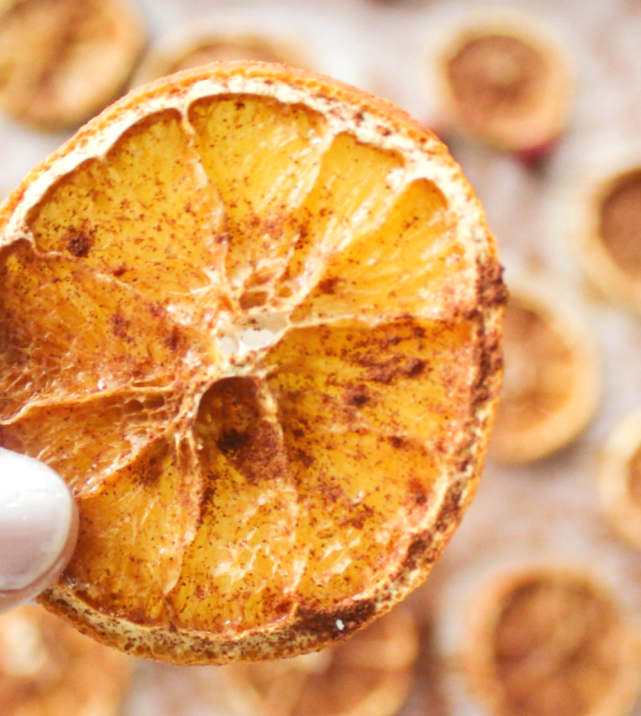 Dried - Orange Slices - With Cinnamon - At Home With Zan -