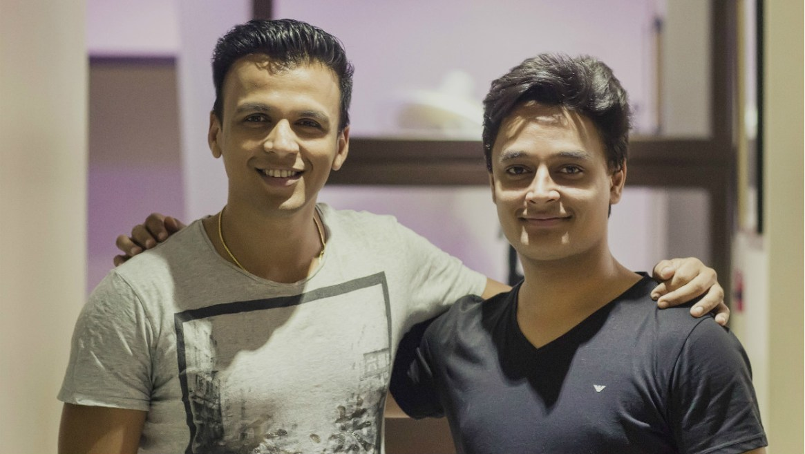 With Abhijeet Sawant after a recording