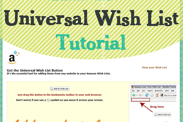 Amazon Universal Wish List Tutorial