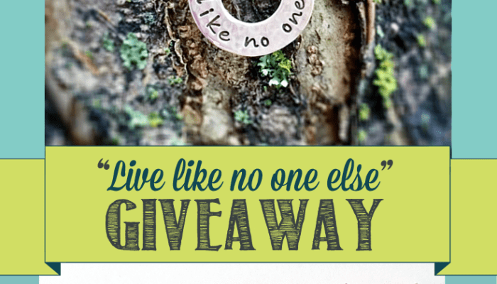 Giveaway: Live like no one else!