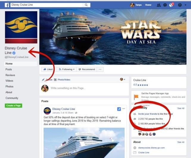 fake page vs. real