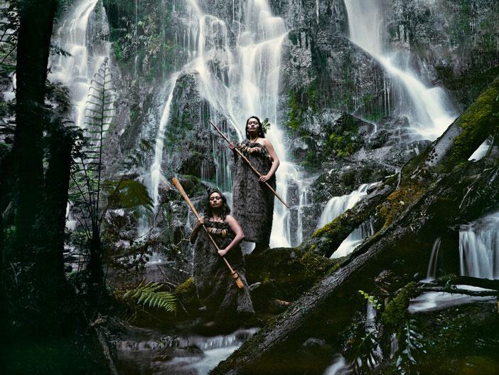Maori Women at Huka Falls - Jimmy Nelson