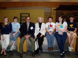 Rod Adams Gwyneth Cravens and ANS students