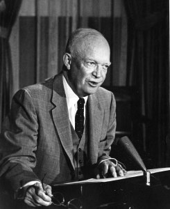 Ike giving a speech