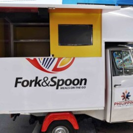 Fork and Spoon Mini Food Truck - Atoy Customs 6