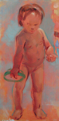 Oil study of the baby