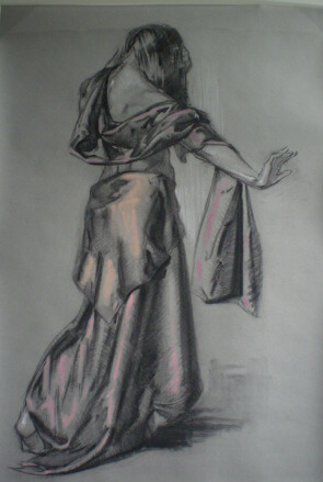 Drapery Study by Judith Reeve