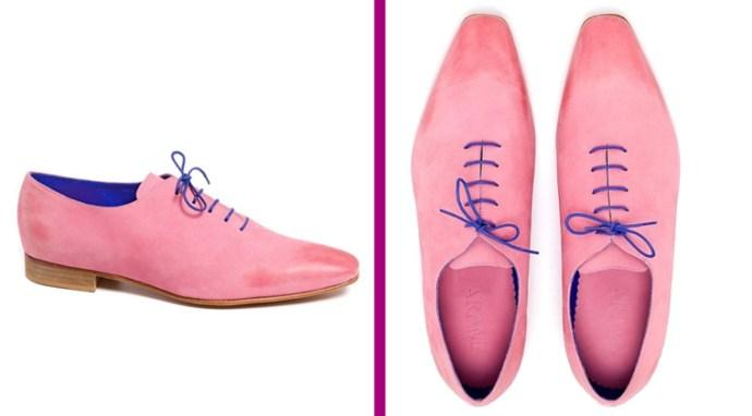 Sunrise Hand Brushed Pink Marshmallow Nubuck Leather Shoes by Arama Shoes