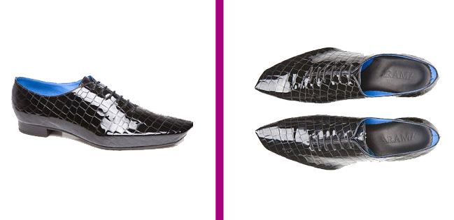 These are the unique Angula Croco Patent leather oxford shoes by Arama Shoes. This pair is fantastic for dancing in a club!