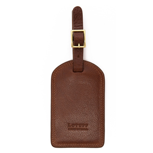 Lotuff Leather Business Leather Luggage Tag