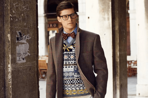 Colorful mens sweater and shirt