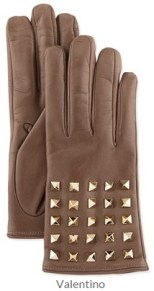 Valentino - Rockstud-Sleeve Leather Gloves