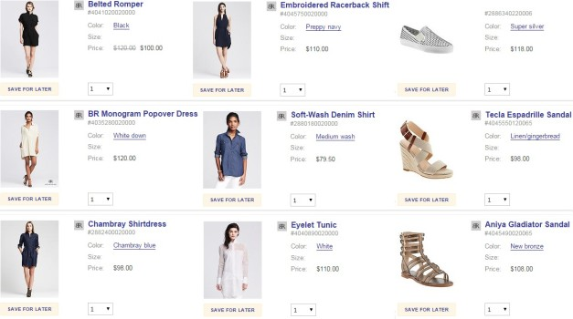 Wardrobe Wish List :: Banana Republic Shopping Basket