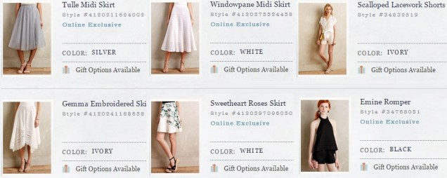 Anthropologie Skirts and shorts - SS 2015