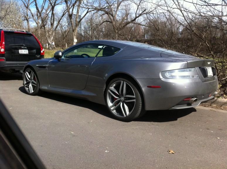 Aston Martin near Lady Bird Lake in Austin