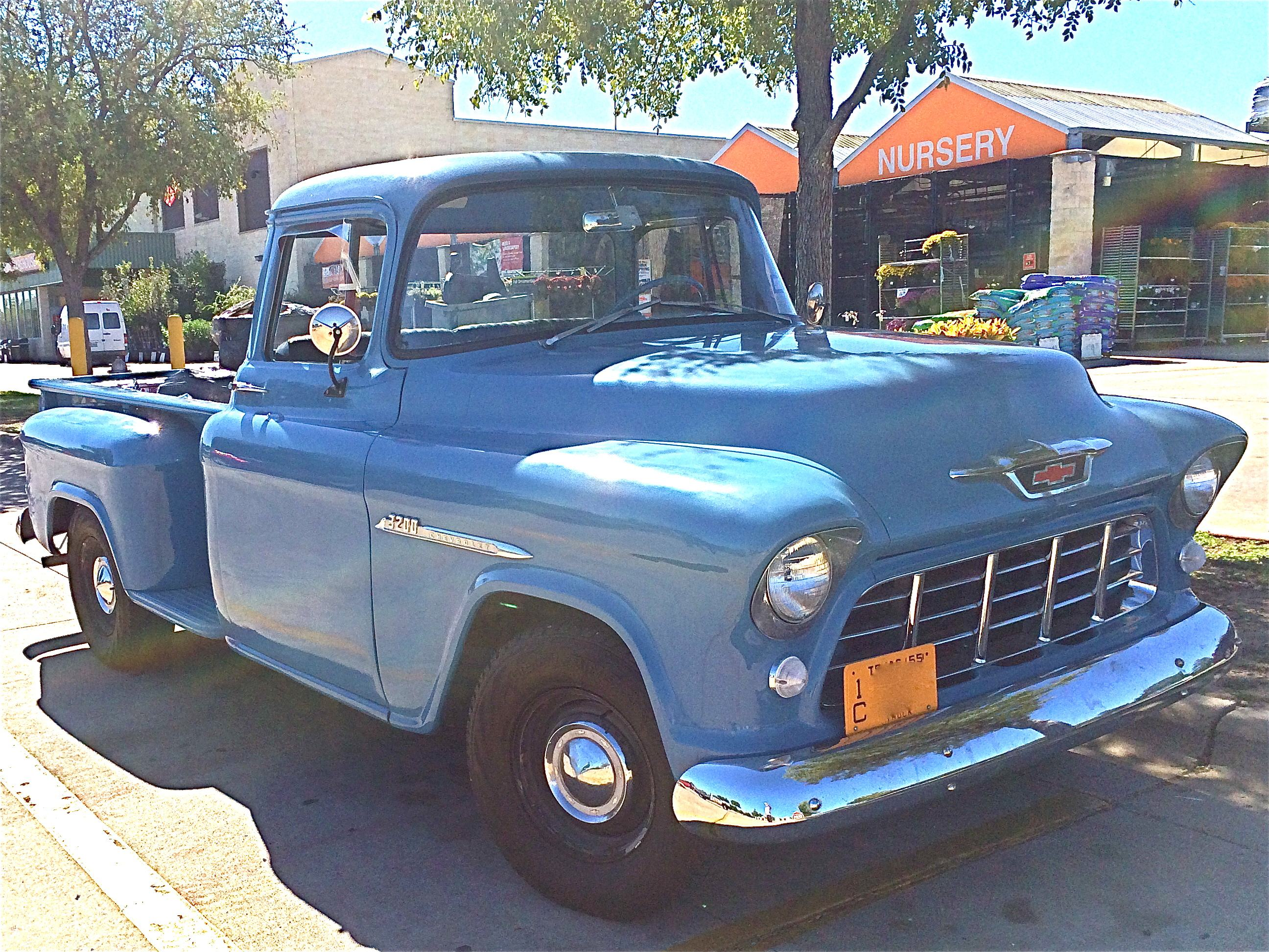 Handsome 1955 Chevrolet 3200 Pickup At Home Depot Atx