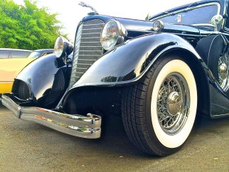 1934 Lincoln K Custom in Austin TX. front detailJPG