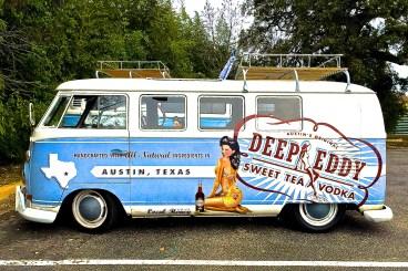 Volkswagen T2 Van in Austin TX Deep Eddy Vodka