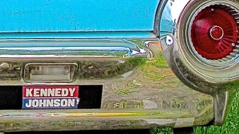 1961 Thunderbird at Dave's Perfection in Austin TX Kennedy Johnson bumper sticker