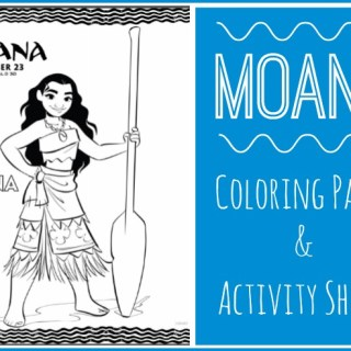 Moana Coloring Pages & Activity Sheets