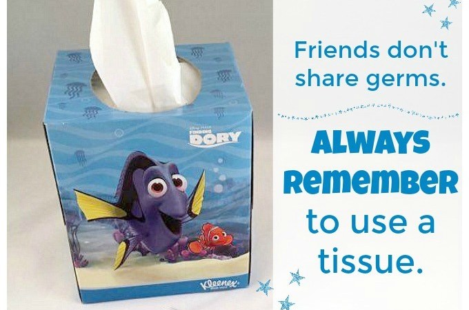 Friends don't share germs. Remember to use a tissue-2