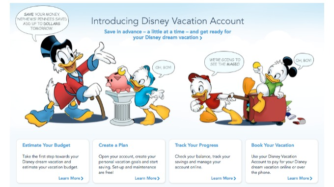Disney Savings Account